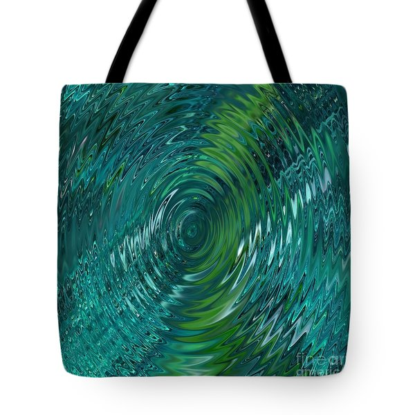 Ripple Sea Glass  Tote Bag by Christine Fournier