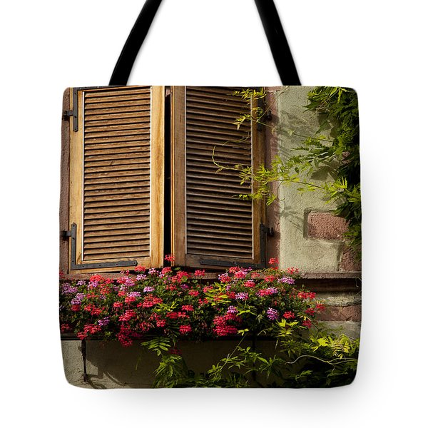 Riquewihr Window Tote Bag by Brian Jannsen
