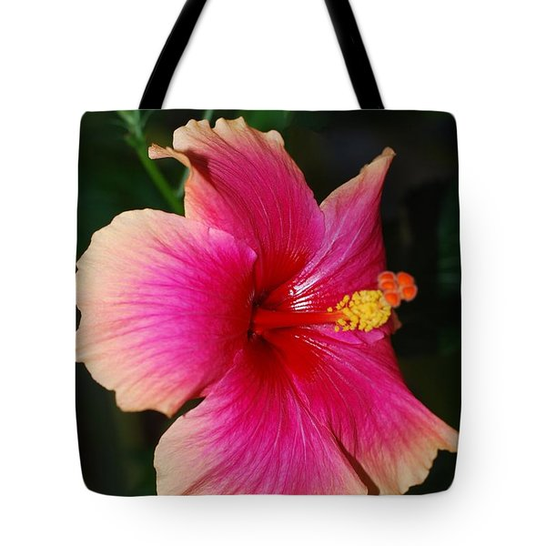 Rise And Shine - Hibiscus Face Tote Bag by Connie Fox