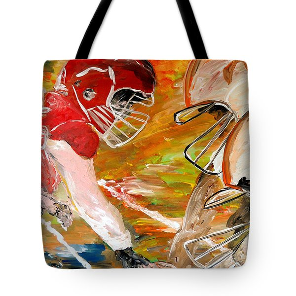 Rivals Face To Face  Tote Bag by Mark Moore