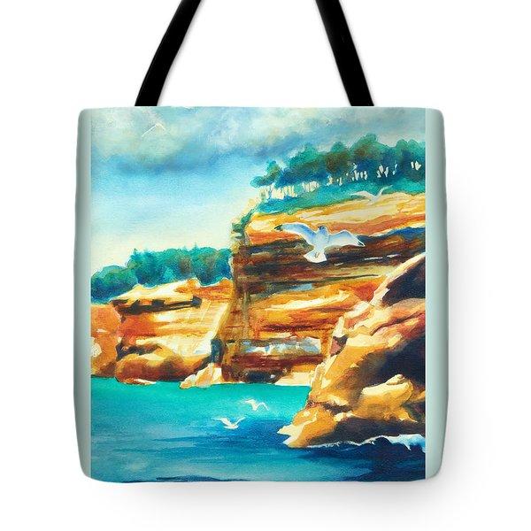 River Cliffs 2 Tote Bag by Kathy Braud