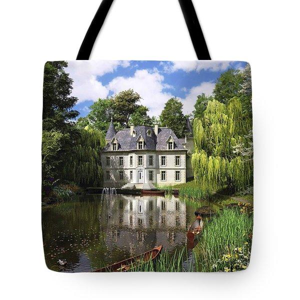 River Mansion Tote Bag by Dominic Davison