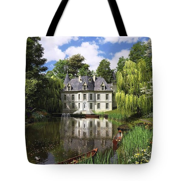 River Mansion Tote Bag by Dominic Davison