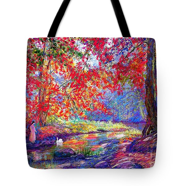 River Of Life, Colors Of Fall Tote Bag by Jane Small