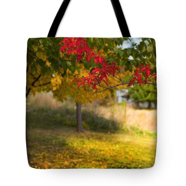Riverbend Orchard Tote Bag by Theresa Tahara