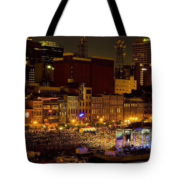 Riverfront Evening Concert Tote Bag by Diana Powell