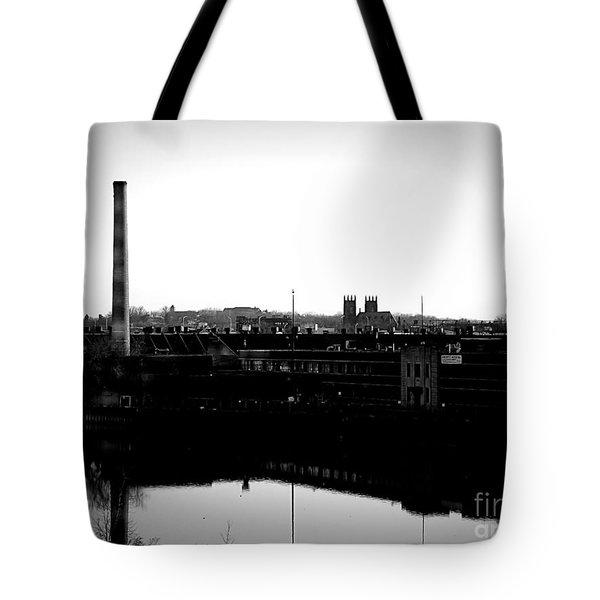 Riverside Industrialism Tote Bag by James Aiken