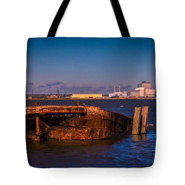 Riverside Wreck Tote Bag by Dawn OConnor