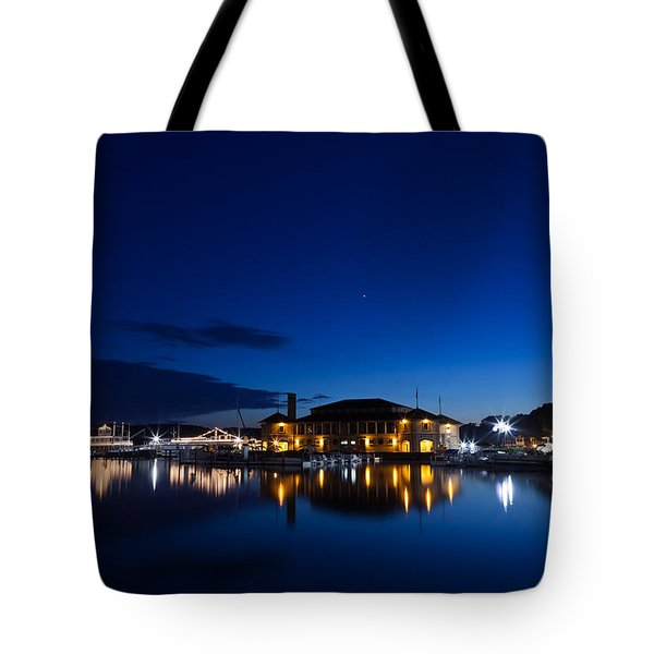Riviera Blue Tote Bag by Steve Gadomski