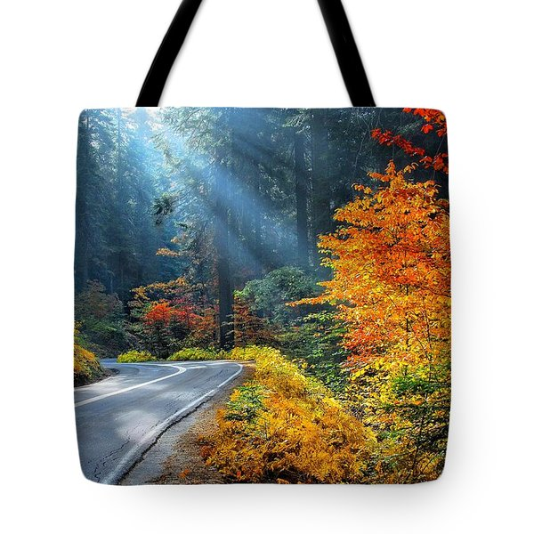Road To Glory  Tote Bag by Lynn Bauer