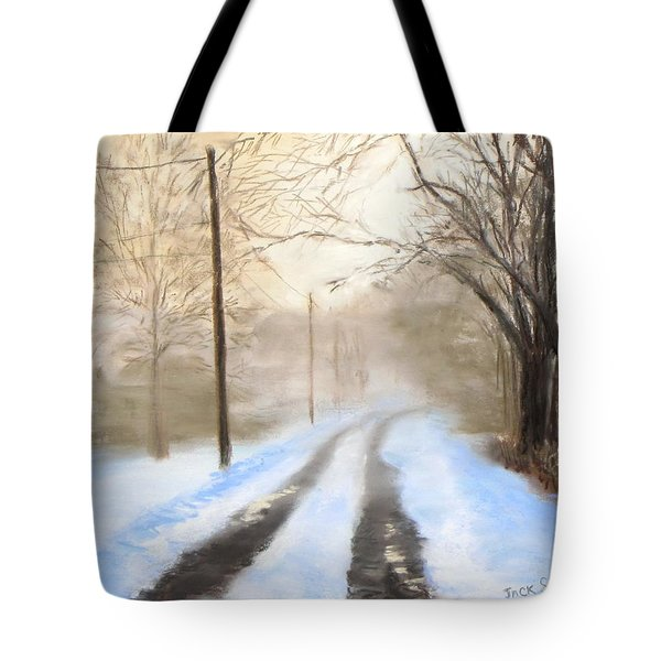 Road to the Ice House Tote Bag by Jack Skinner