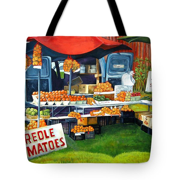 Roadside Market Tote Bag by Elaine Hodges