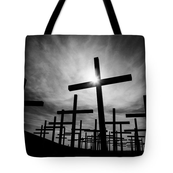 Roadside Memorial Tote Bag by Dave Bowman