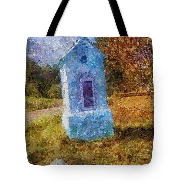 Roadside Shrine Tote Bag by Mo T