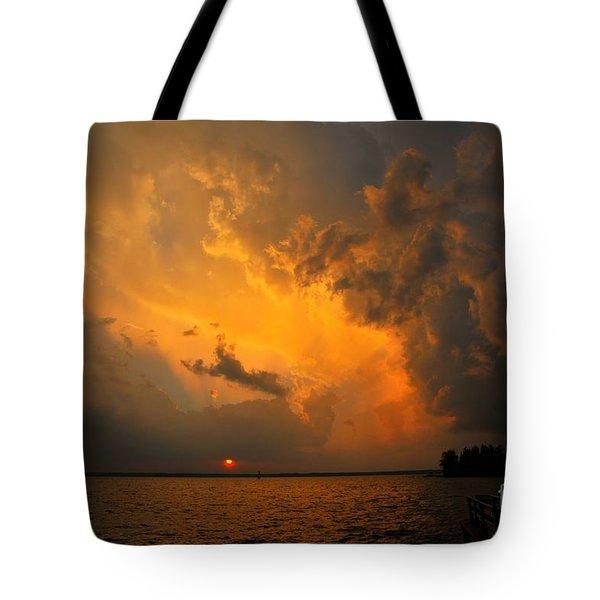 Roar of the Heavens Tote Bag by Terri Gostola