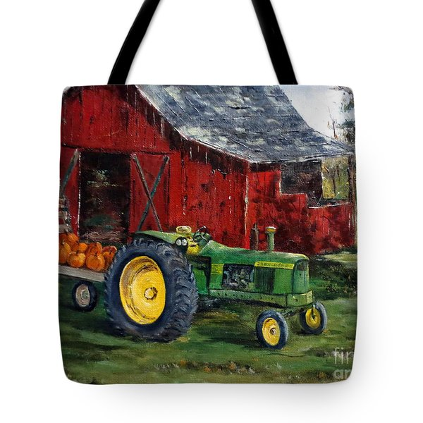 Rob Smith's Tractor Tote Bag by Lee Piper