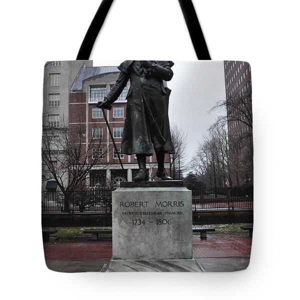 Robert Morris Financier of the American Revolution Tote Bag by Bill Cannon