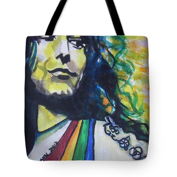 Robert Plant.. Led Zeppelin Tote Bag by Chrisann Ellis