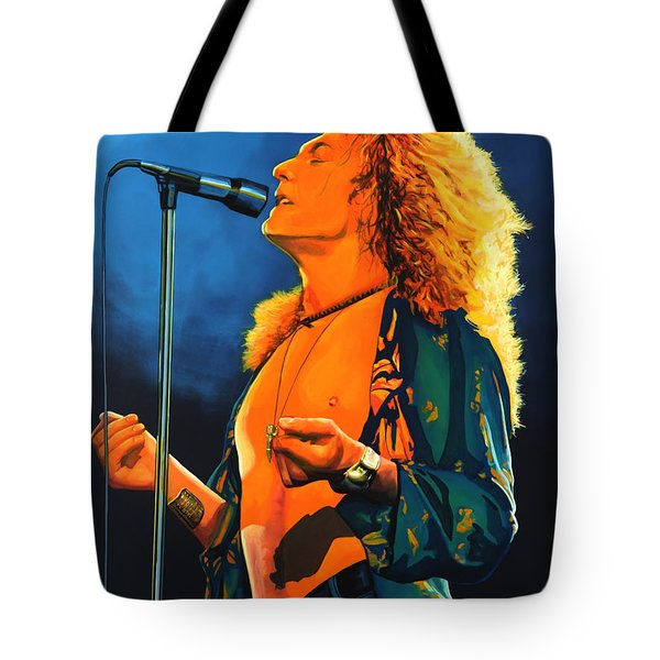 Robert Plant Tote Bag by Paul Meijering