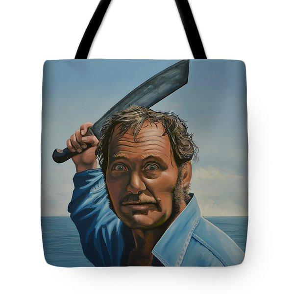 Robert Shaw In Jaws Tote Bag by Paul Meijering