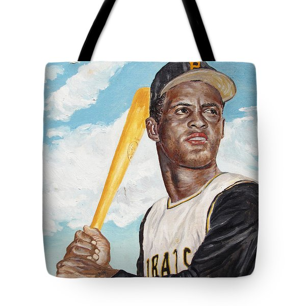 Roberto Clemente Tote Bag by Philip Lee