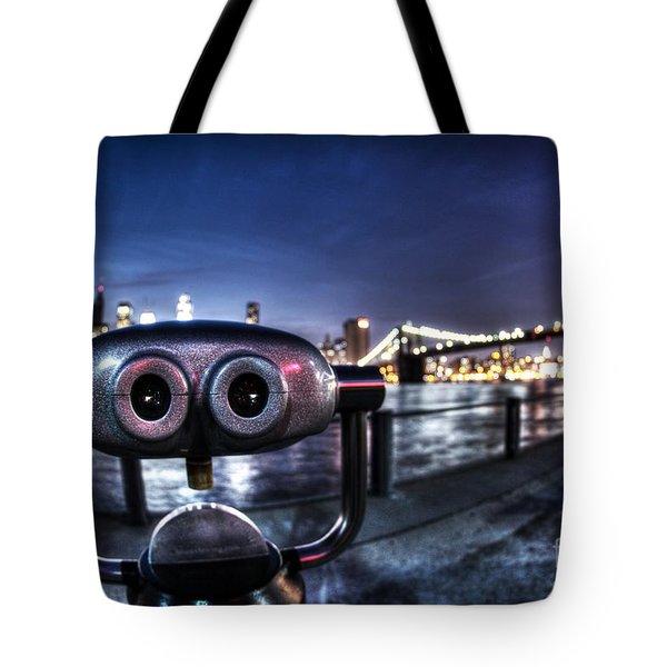 Robot Views Tote Bag by Andrew Paranavitana