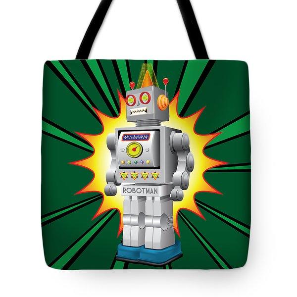 Robotman Tote Bag by Gary Grayson