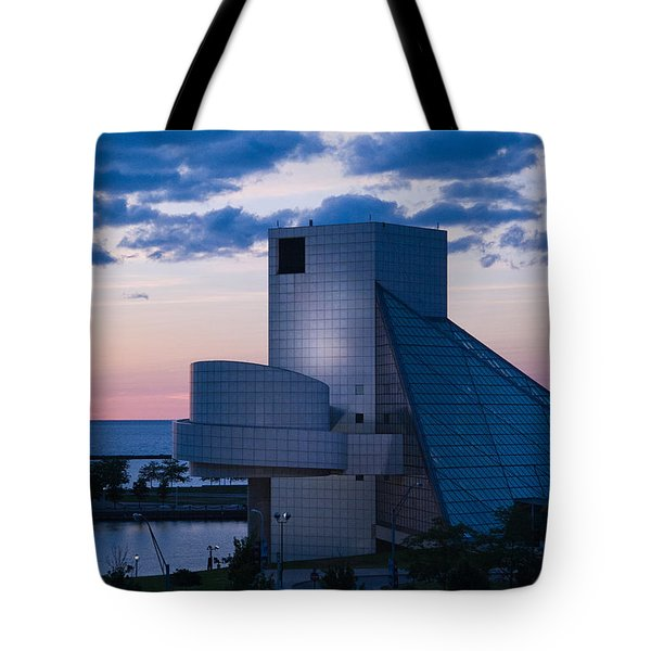 Rock and Roll Hall of Fame Tote Bag by Dale Kincaid