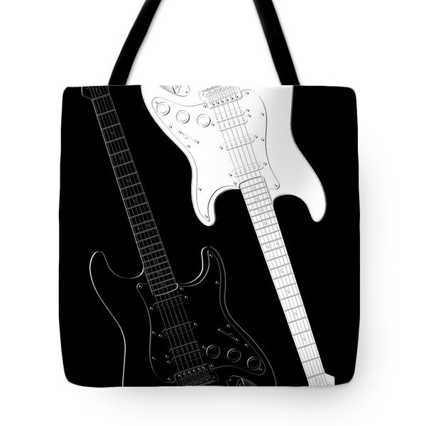 Rock And Roll Yin Yang Tote Bag by Mike McGlothlen