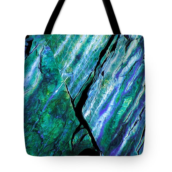 Rock Art 16 in Teal n Violet Tote Bag by Bill Caldwell -        ABeautifulSky Photography