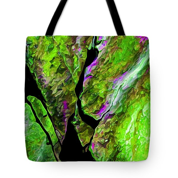 Rock Art 17 In Green Tote Bag by Bill Caldwell -        ABeautifulSky Photography