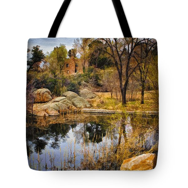 Rock House at Granite Dells Tote Bag by Priscilla Burgers