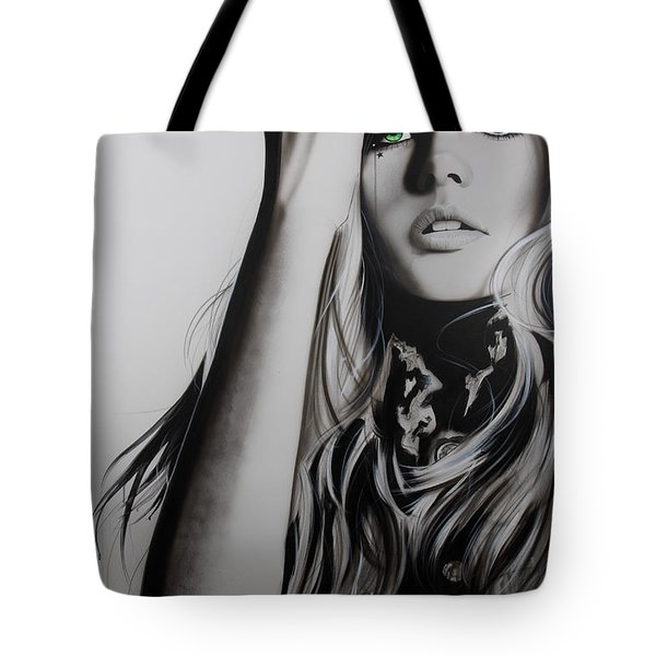 'Rock Police II' Tote Bag by Christian Chapman Art