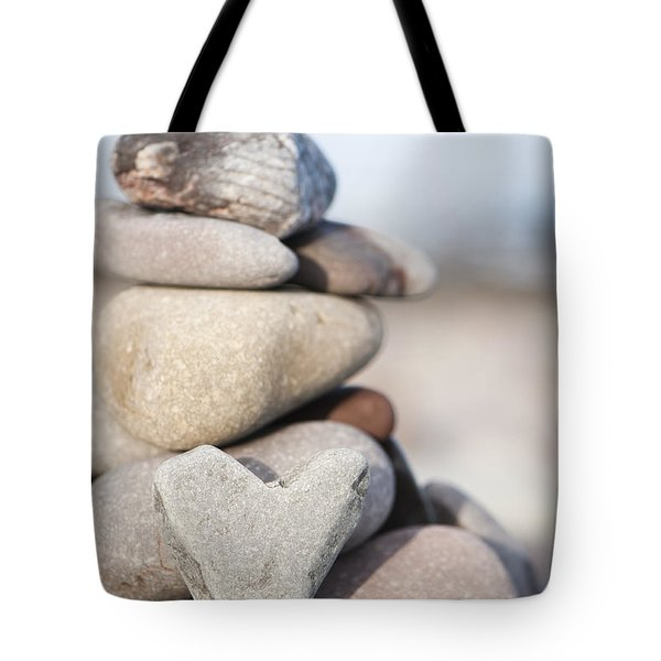 Rock Solid Love Tote Bag by Anne Gilbert