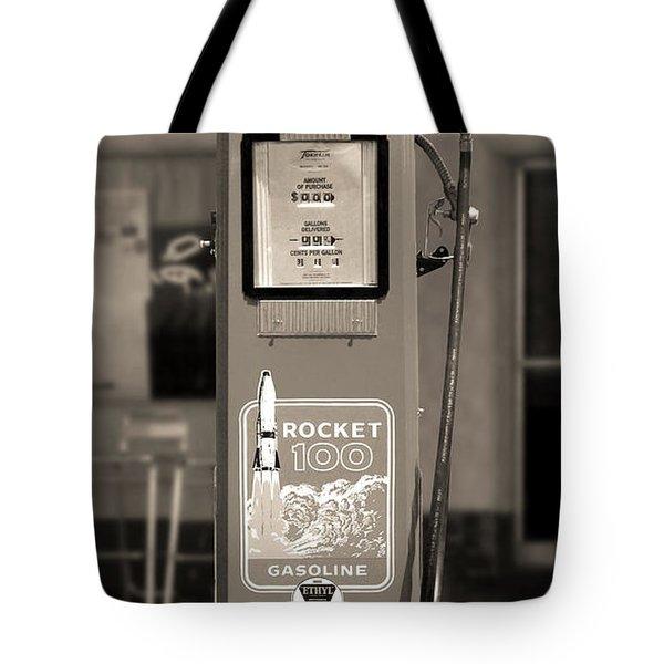Rocket 100 Gasoline - Tokheim Gas Pump 2 Tote Bag by Mike McGlothlen