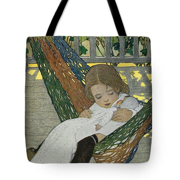 Rocking Baby Doll To Sleep Tote Bag by Jessie Willcox Smith