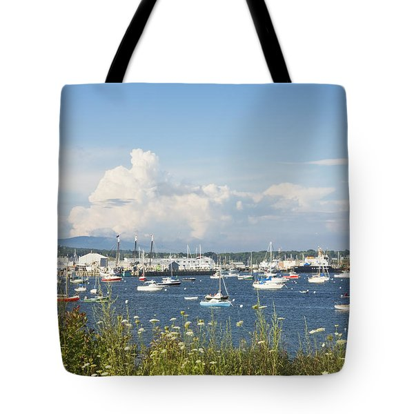 Rockland Harbor on the Coast of Maine Tote Bag by Keith Webber Jr