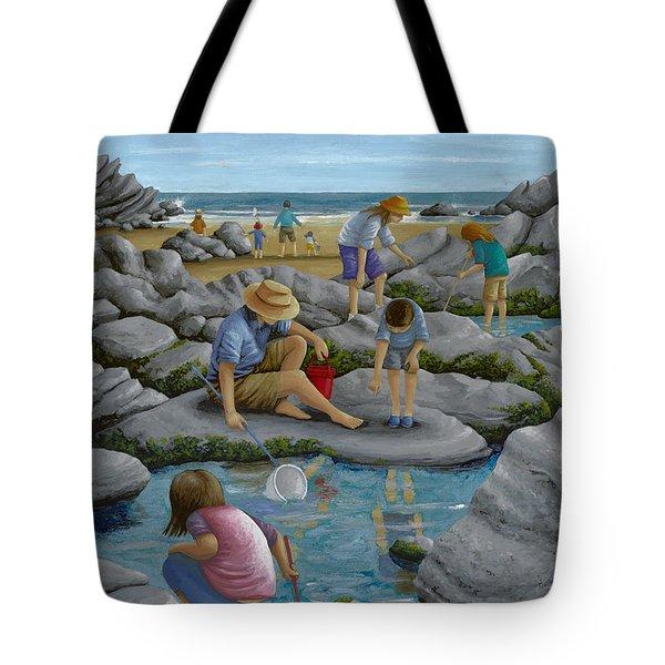 Rockpooling Tote Bag by Peter Adderley