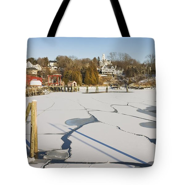 Rockport Maine In Winter Tote Bag by Keith Webber Jr
