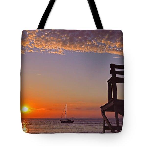 Rockport Sunset Tote Bag by Joann Vitali
