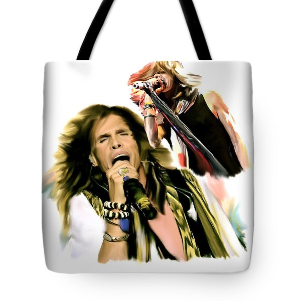 Rocks Gothic Lion II  Steven Tyler Tote Bag by Iconic Images Art Gallery David Pucciarelli