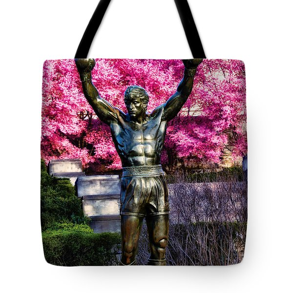 Rocky Among The Cherry Blossoms Tote Bag by Bill Cannon