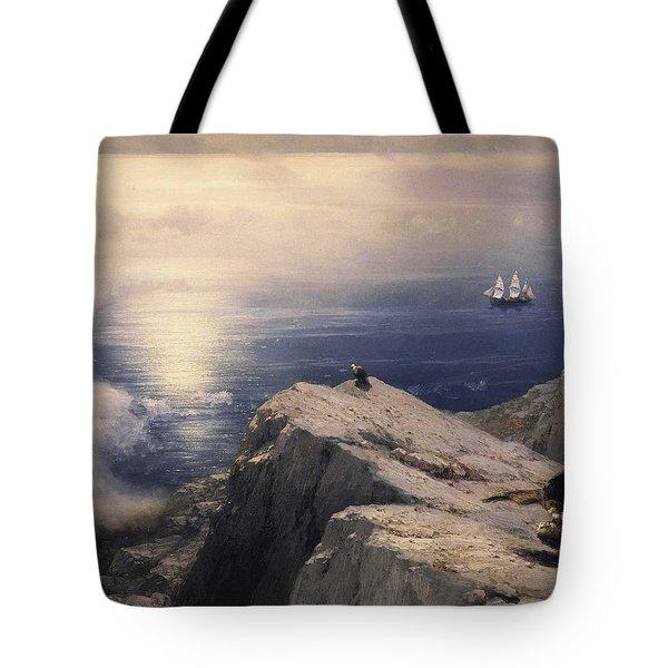 Rocky Coastal Tote Bag by Ivan Konstantinovich Aivazovsky