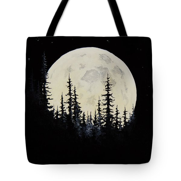 Rocky Mountain Moon Tote Bag by C Steele
