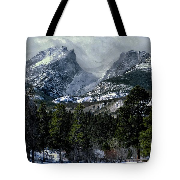 Rocky Mountains Tote Bag by Jim Hill