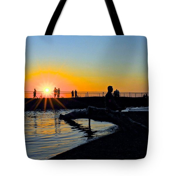 Rocky River Ohio Tote Bag by Frozen in Time Fine Art Photography
