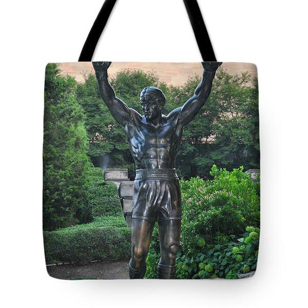 Rocky Statue - Philadelphia Tote Bag by Bill Cannon