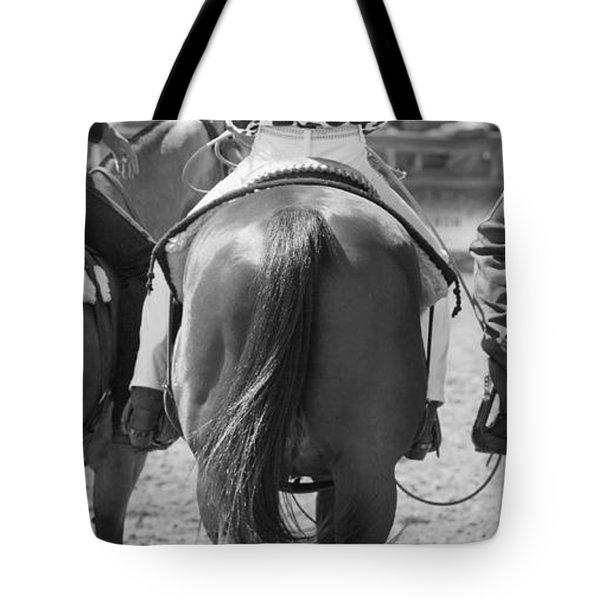 Rodeo Bums Tote Bag by Michelle Wrighton
