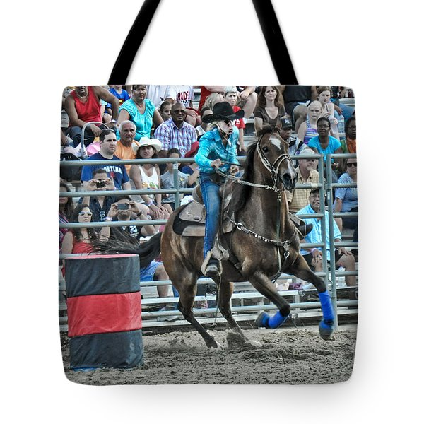 Rodeo Cowgirl Tote Bag by Gary Keesler