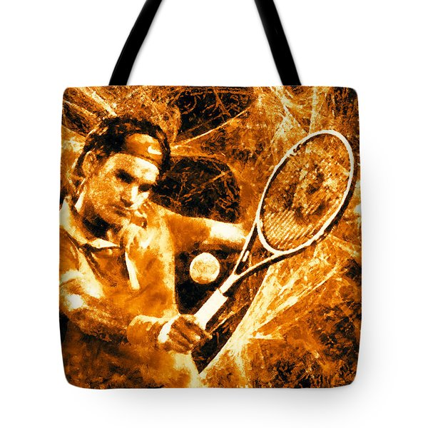 Roger Federer Clay Tote Bag by RochVanh